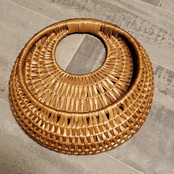 Boho Vintage Wall Hang Wicker Basket